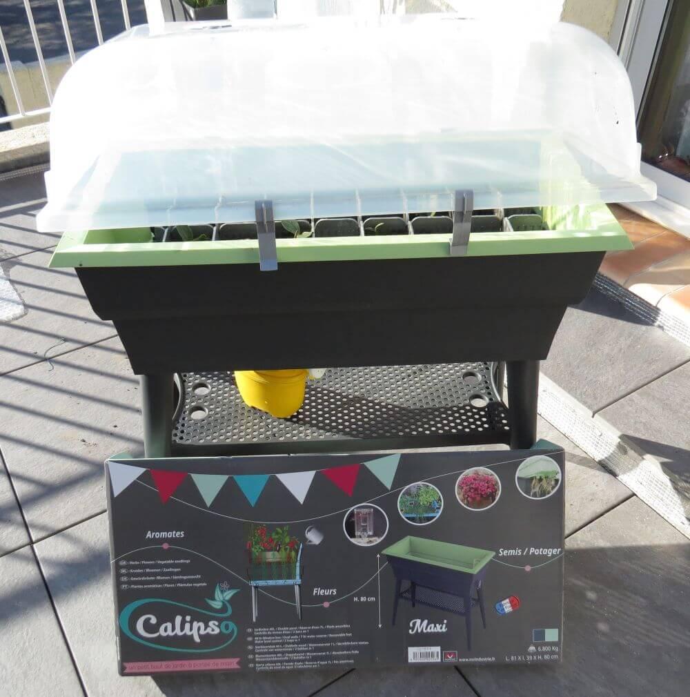 Test de la jardinière mini serre double paroi version Combi de chez Calipso